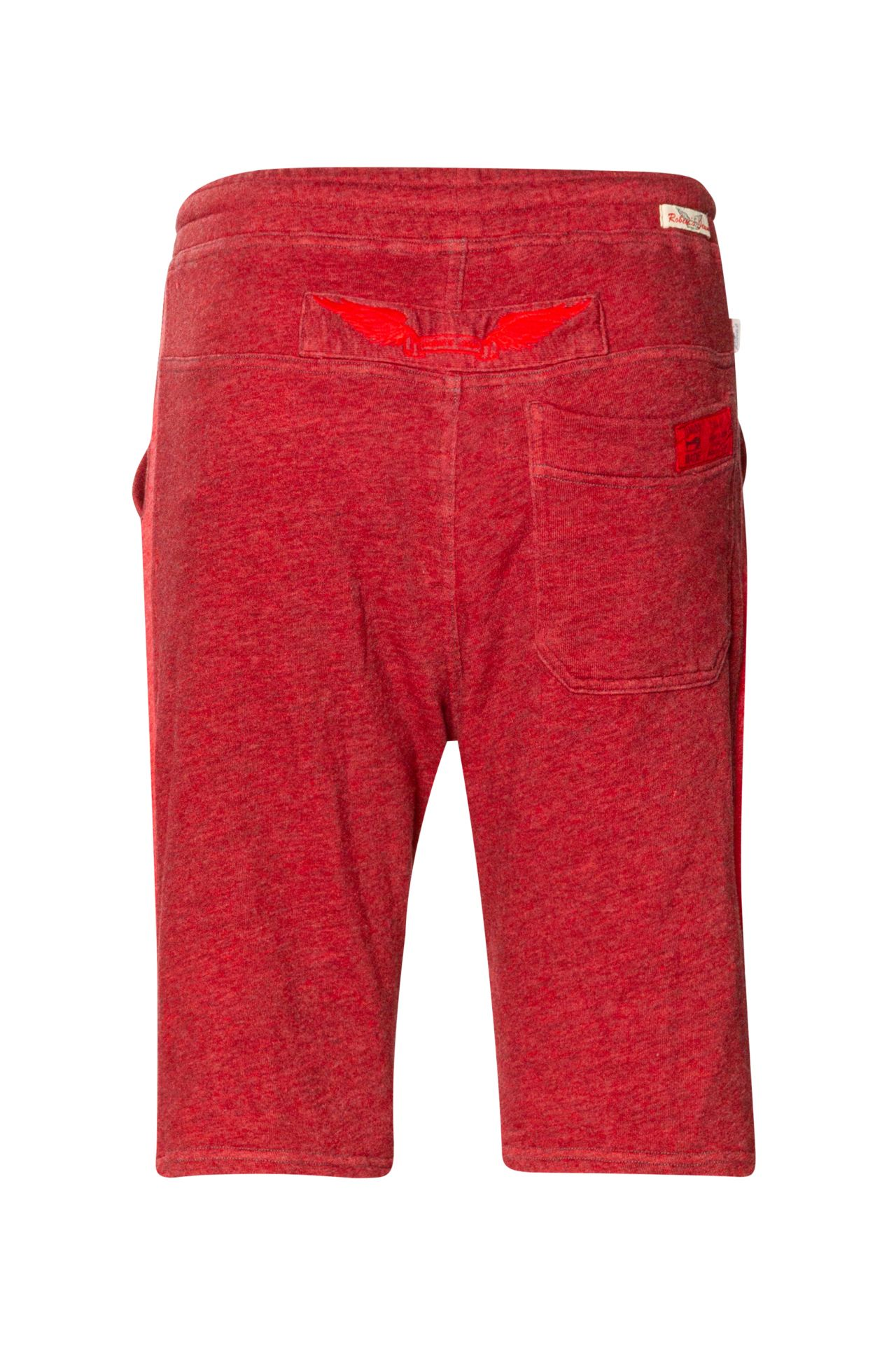 TONAL STRIPE JOGGER SHORTS IN HEATHER RED