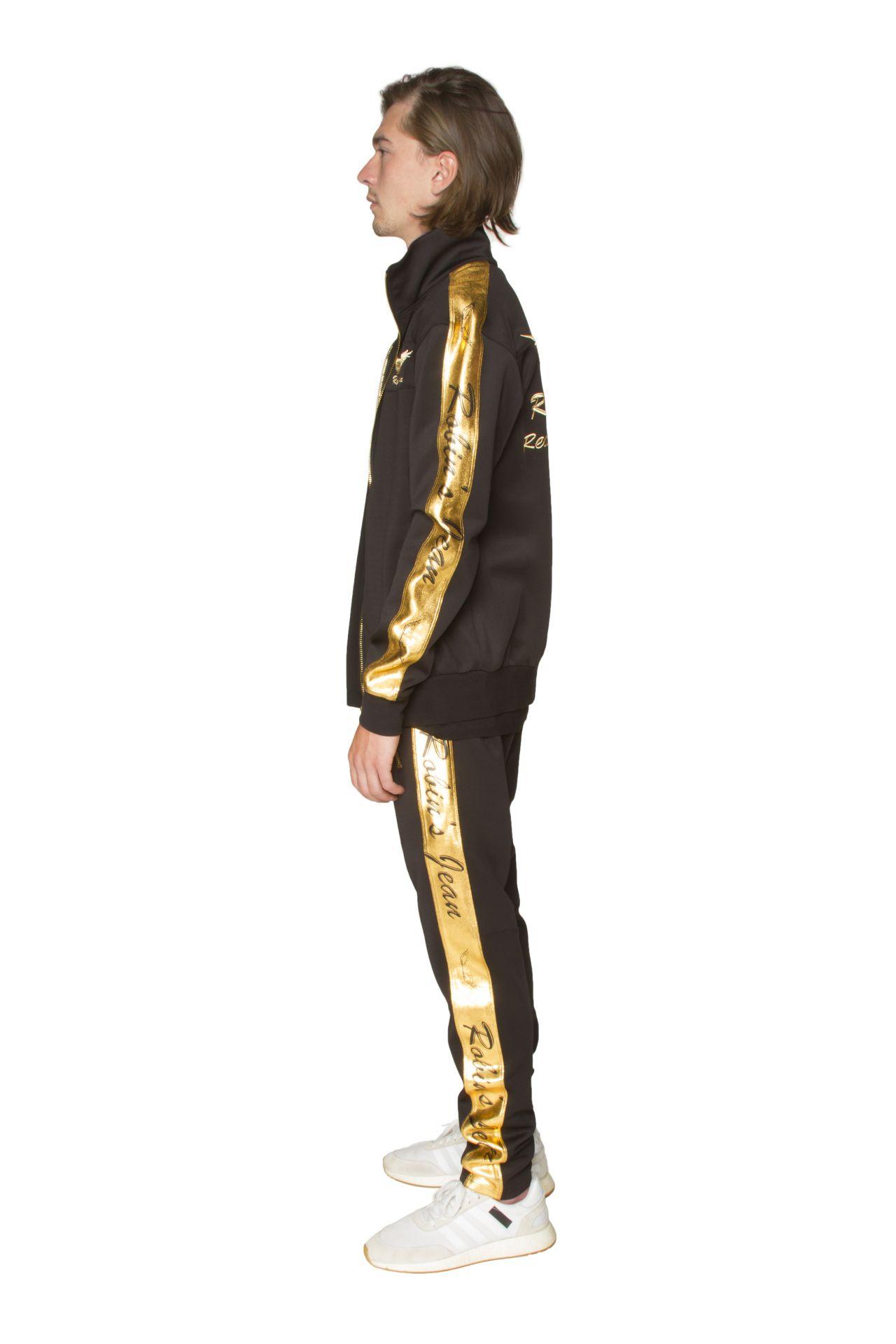 ROBIN TEAM TRACK JACKET IN GOLD ON BLACK