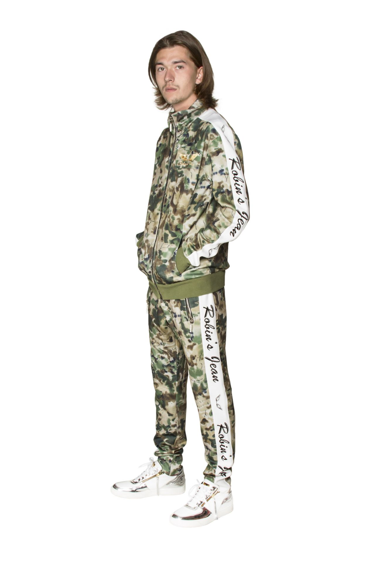 ROBIN TEAM TRACK JACKET IN CAMO GREEN