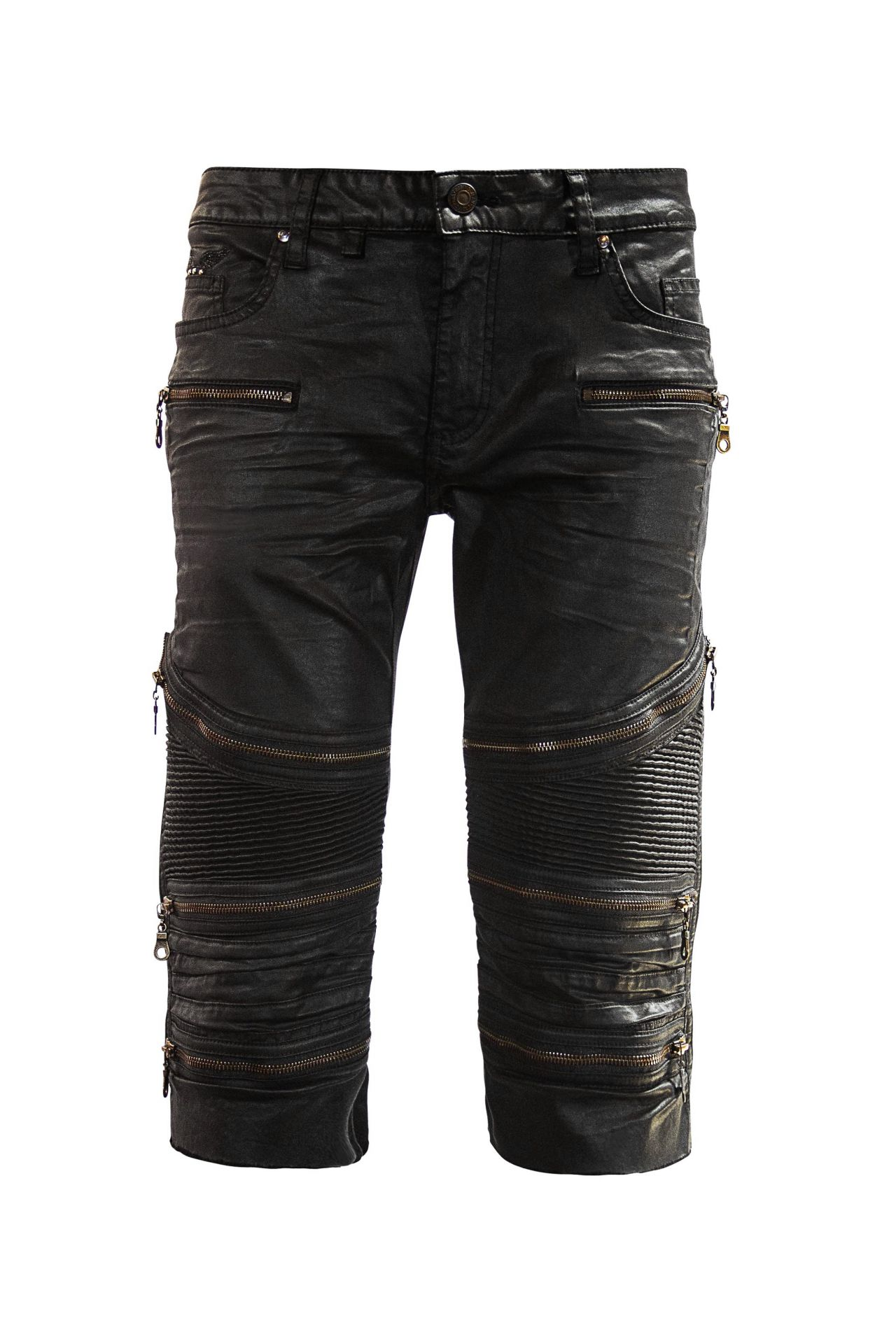 DY BIKER SHORTS IN BLACK