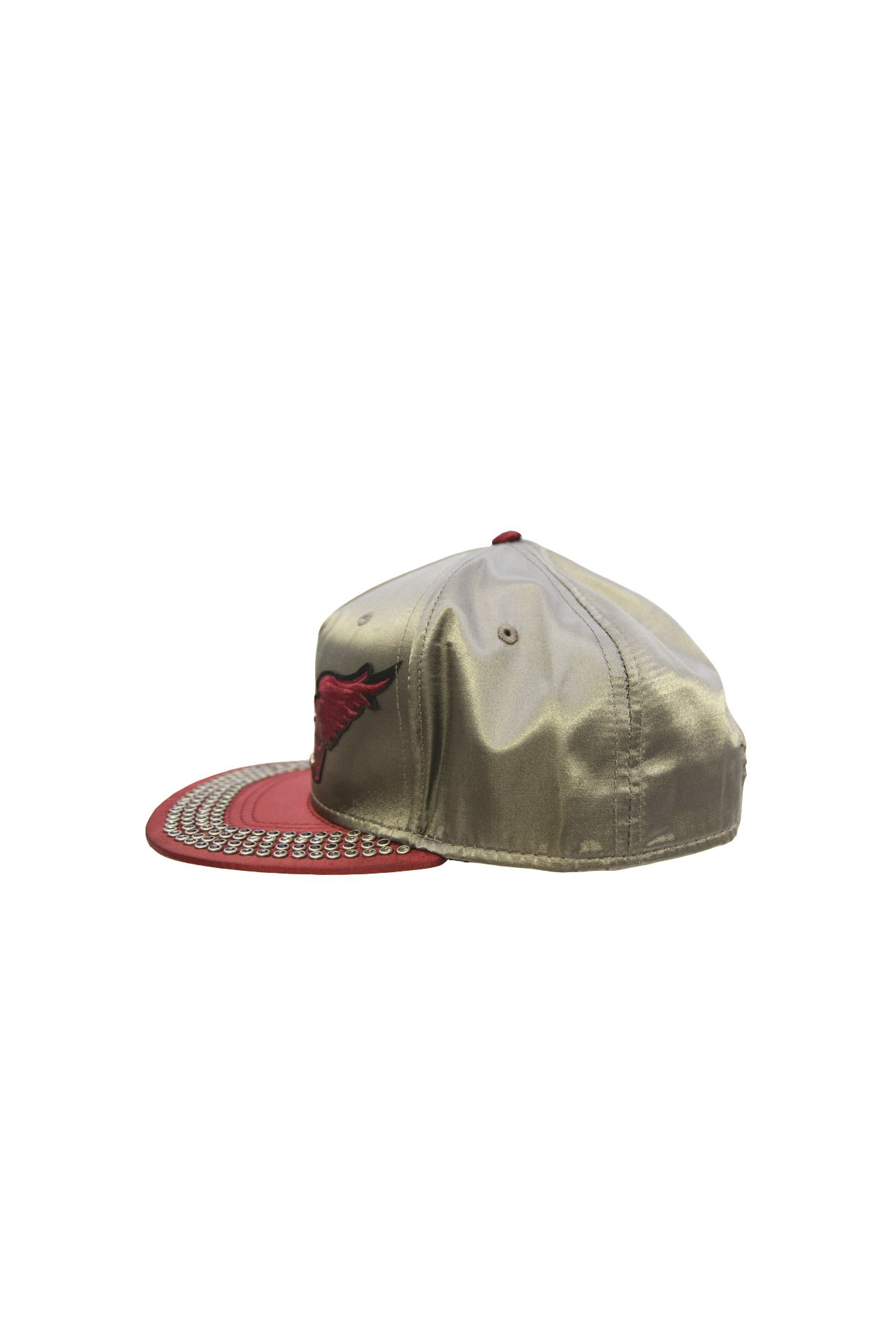 CAP 2 TONE SATIN WITH CRYSTALS
