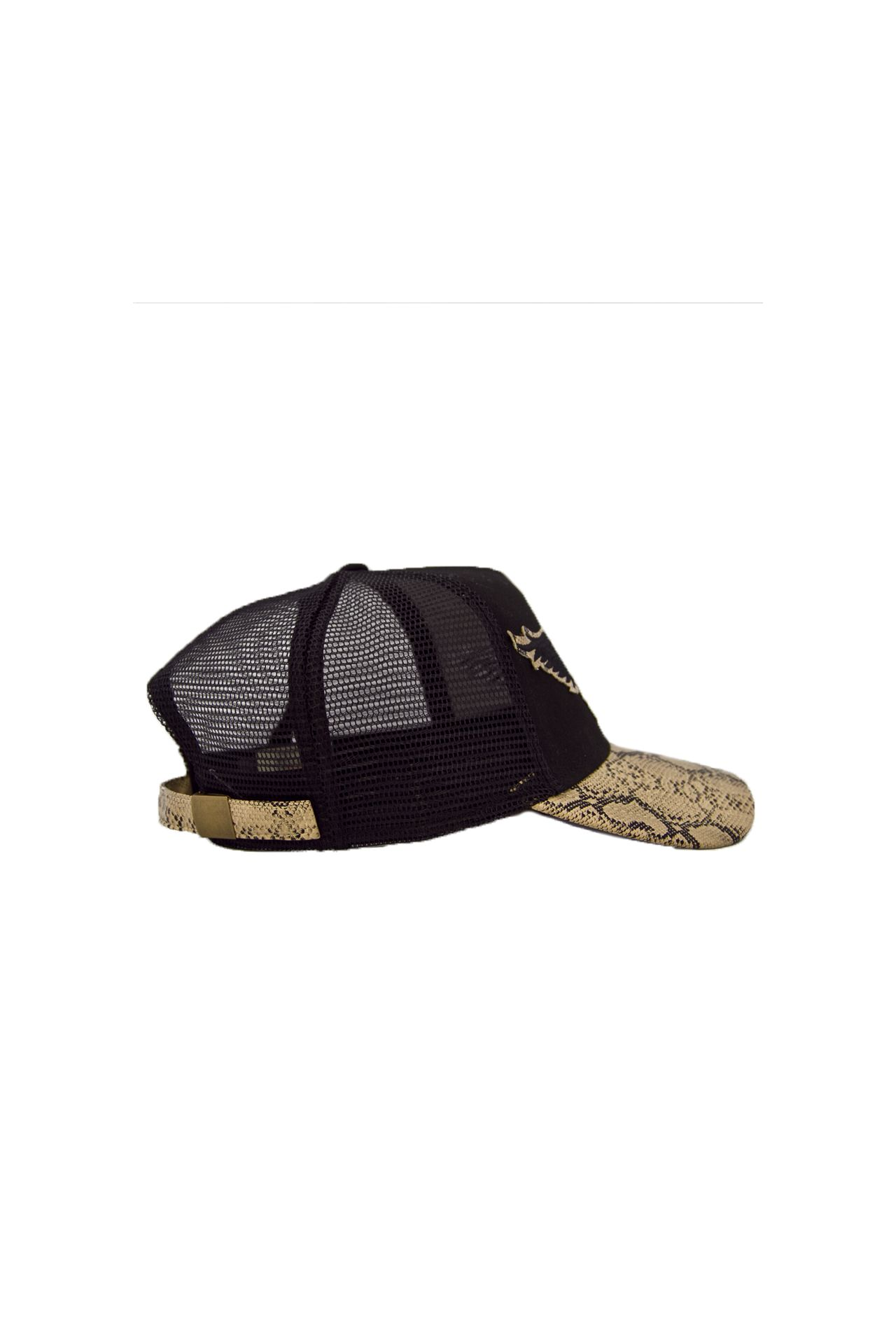 BLACK TWILL CAP WITH BEIGE VISOR