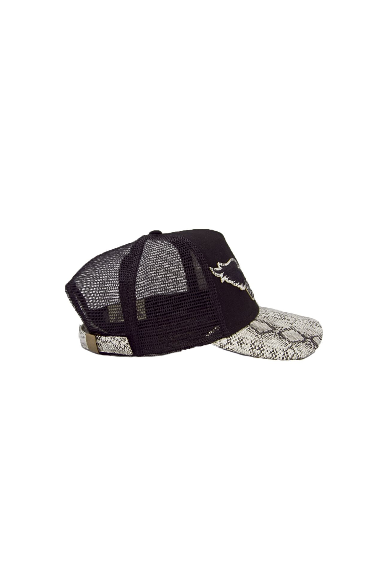 BLACK TWILL CAP WITH WHITE VISOR