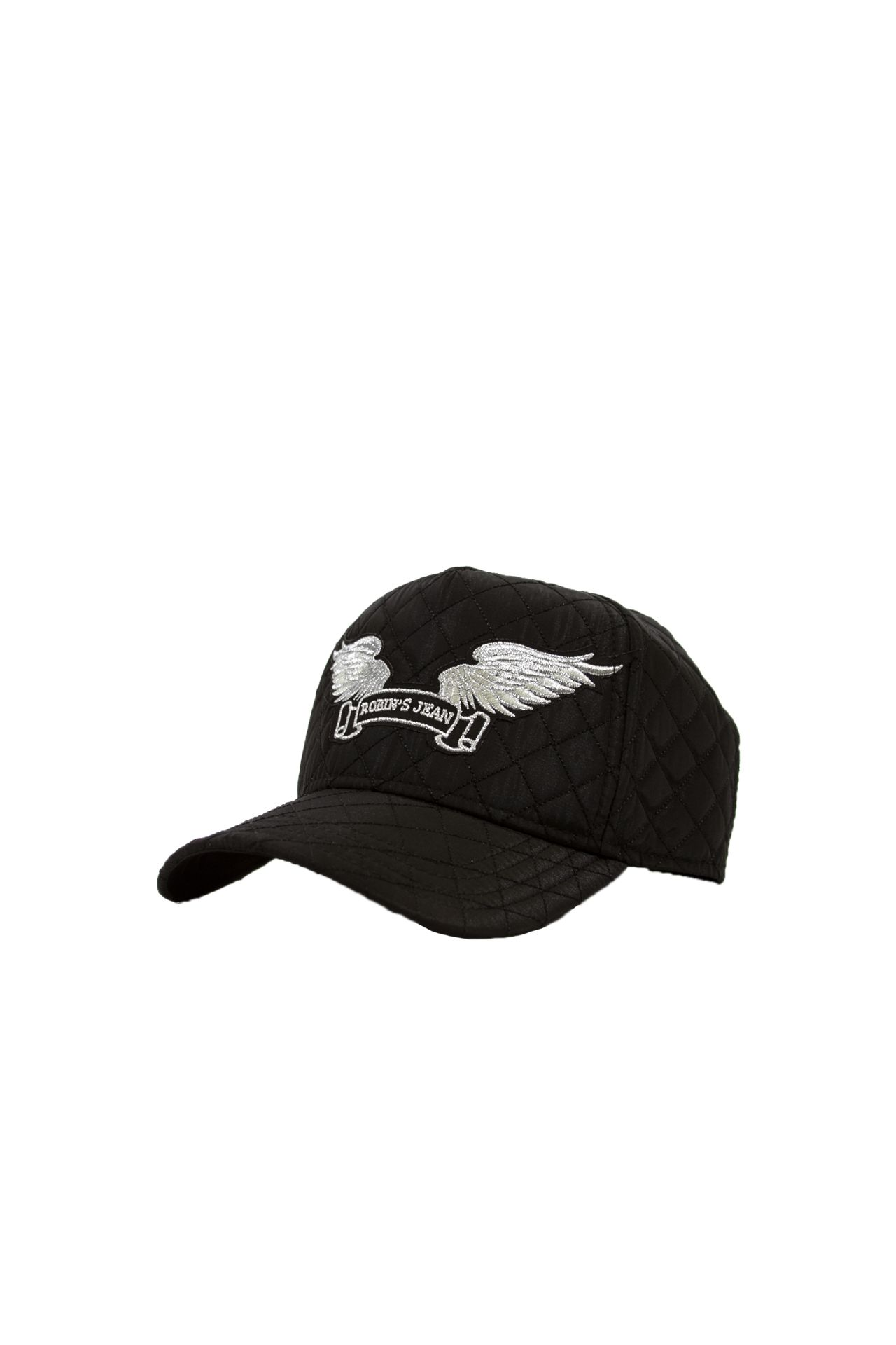 QUILTED BLACK CAP