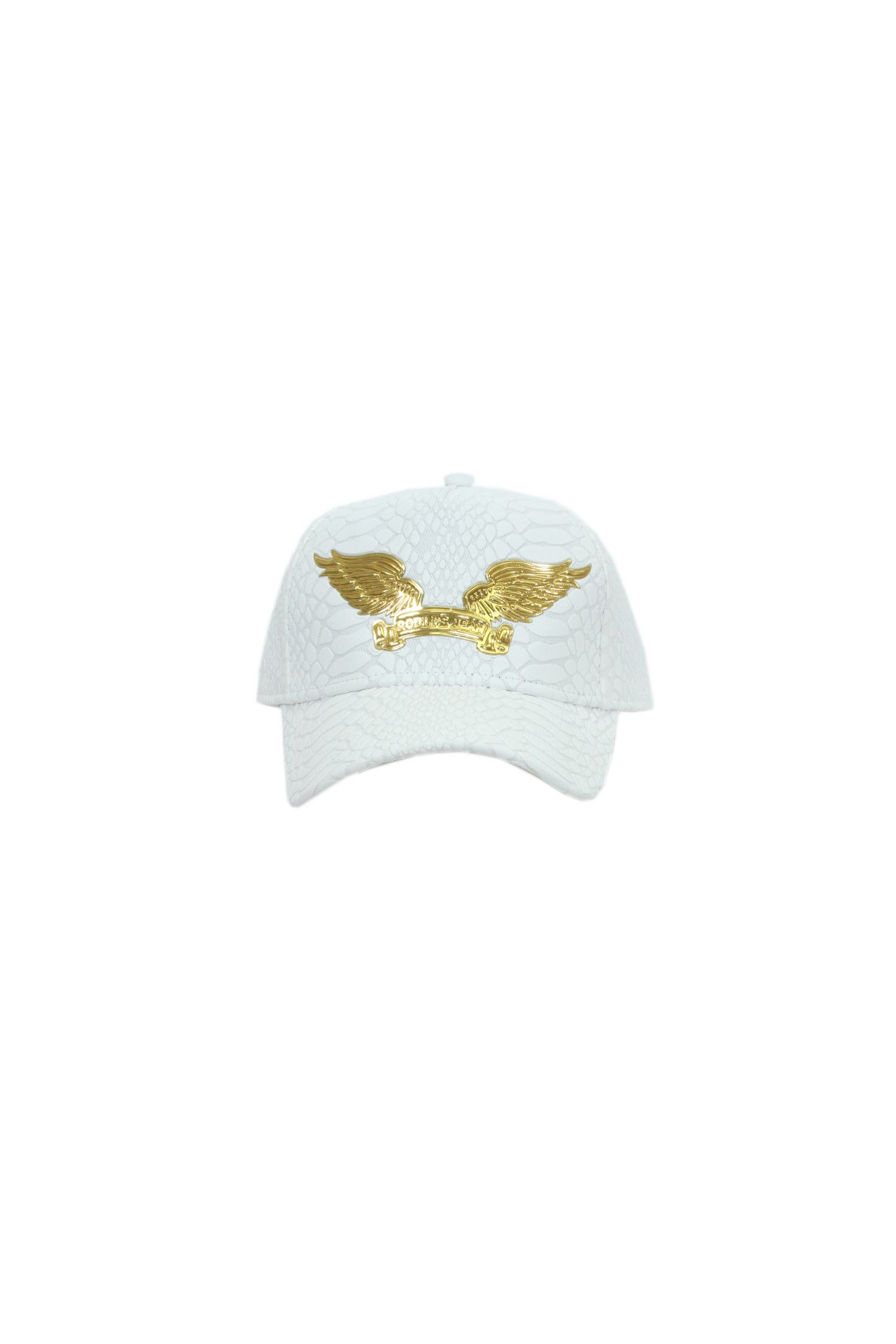 CRACKLE WHITE WITH GOLD WINGS