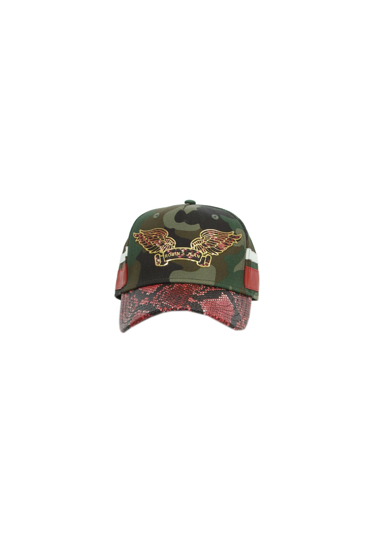 TWILL CAP CAMO WITH GOLD WINGS