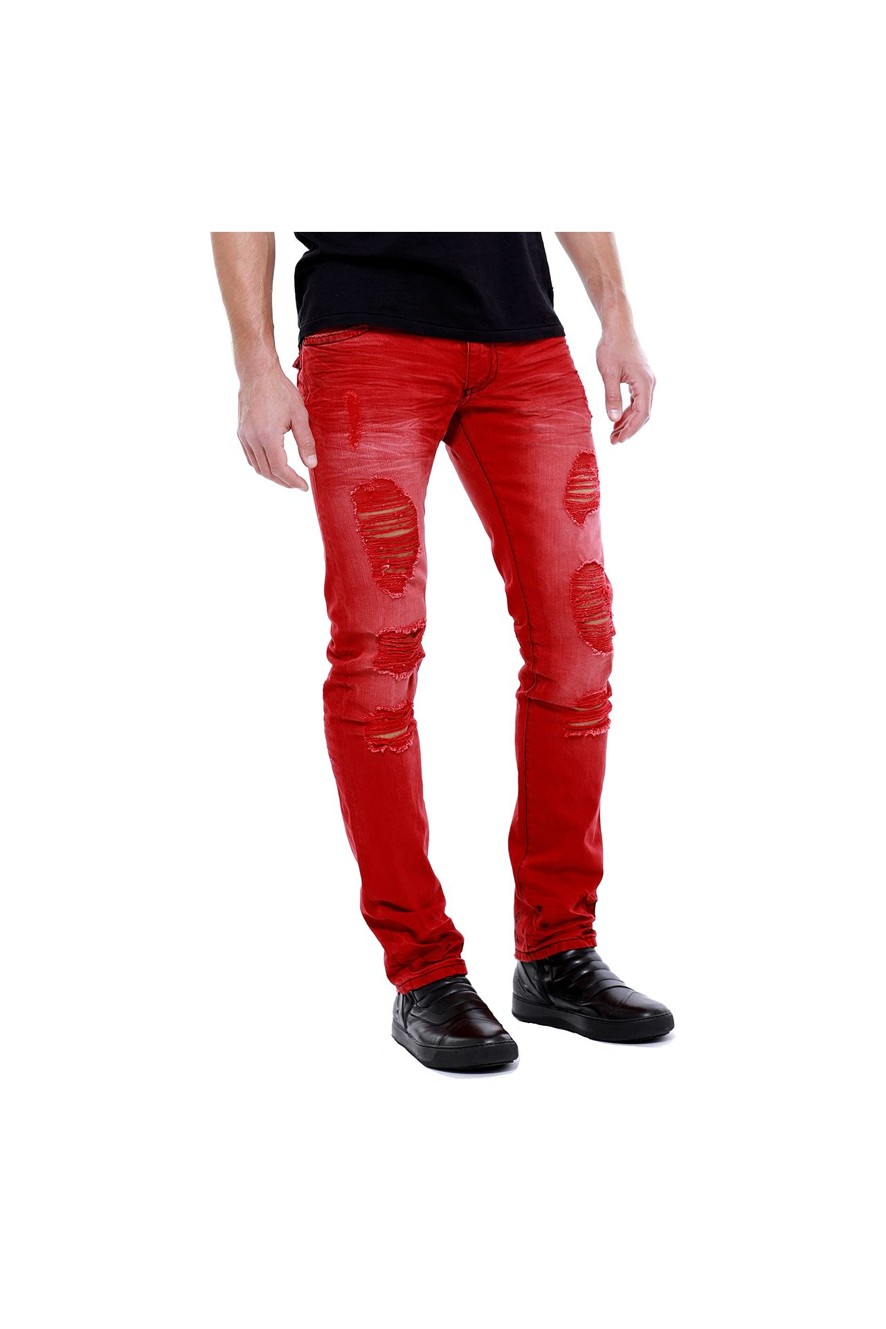 LONG FLAP SLIM IN F--UP RED