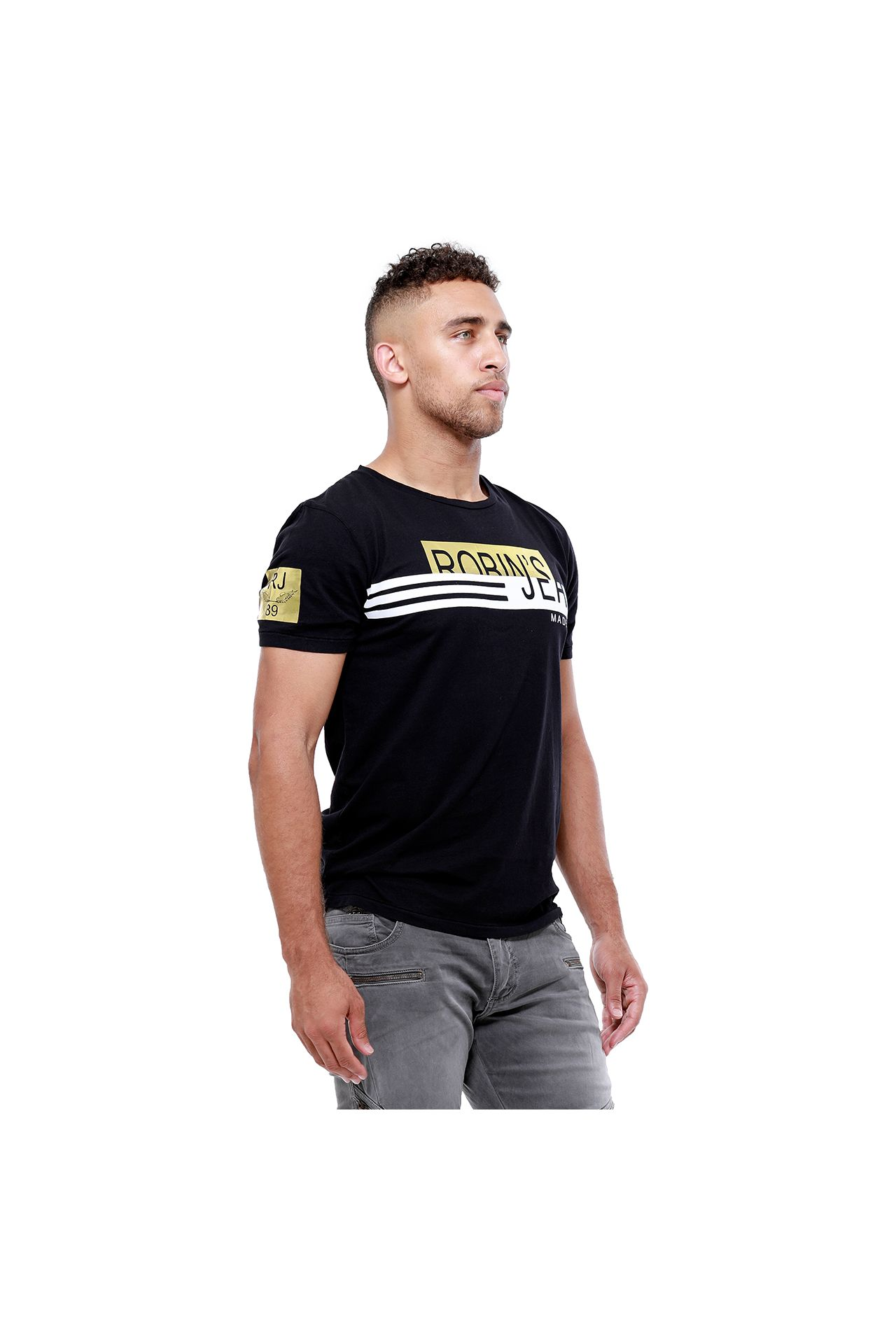 SPORT DESIGN TEE IN BLACK