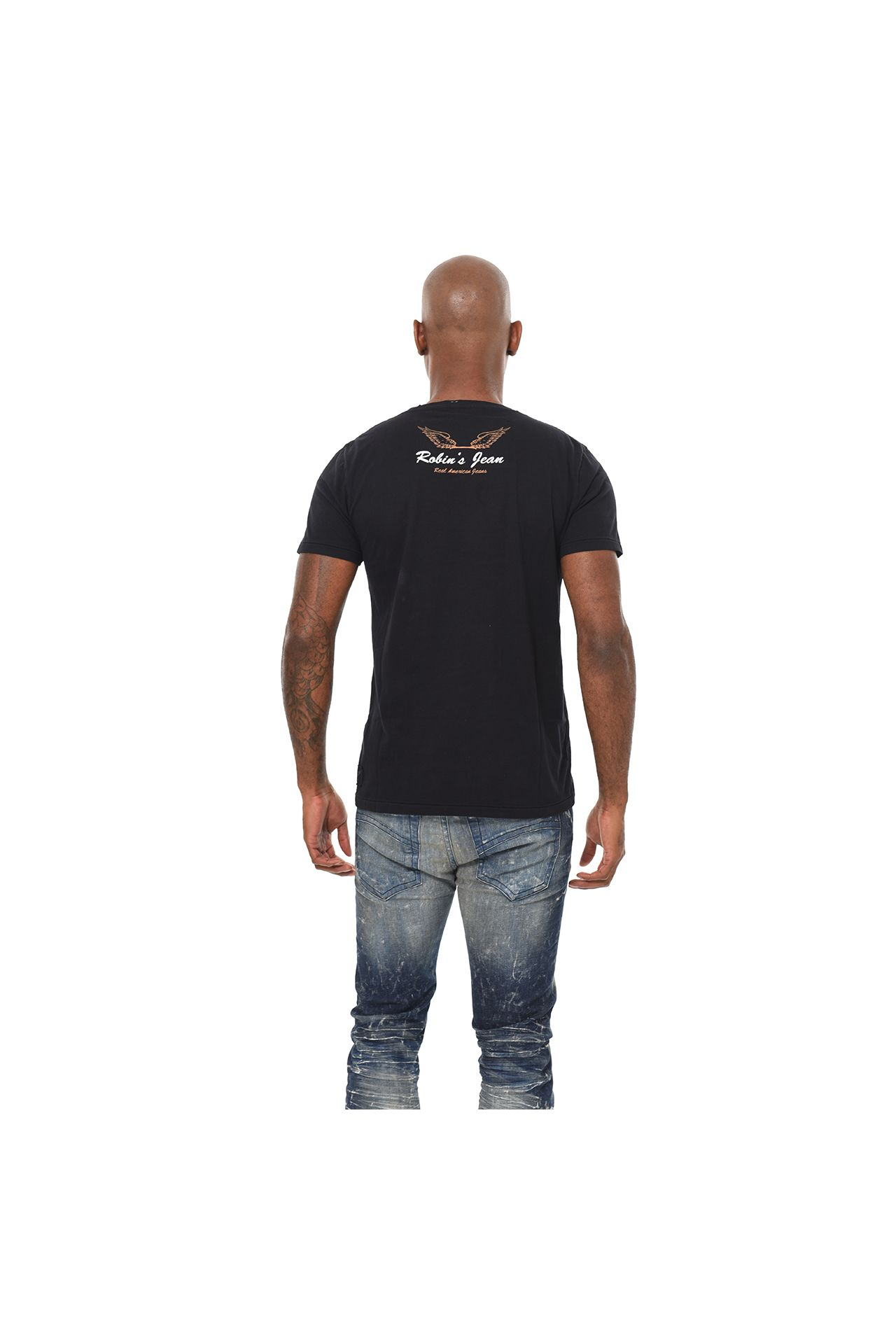FEATHER ART TEE IN BLACK