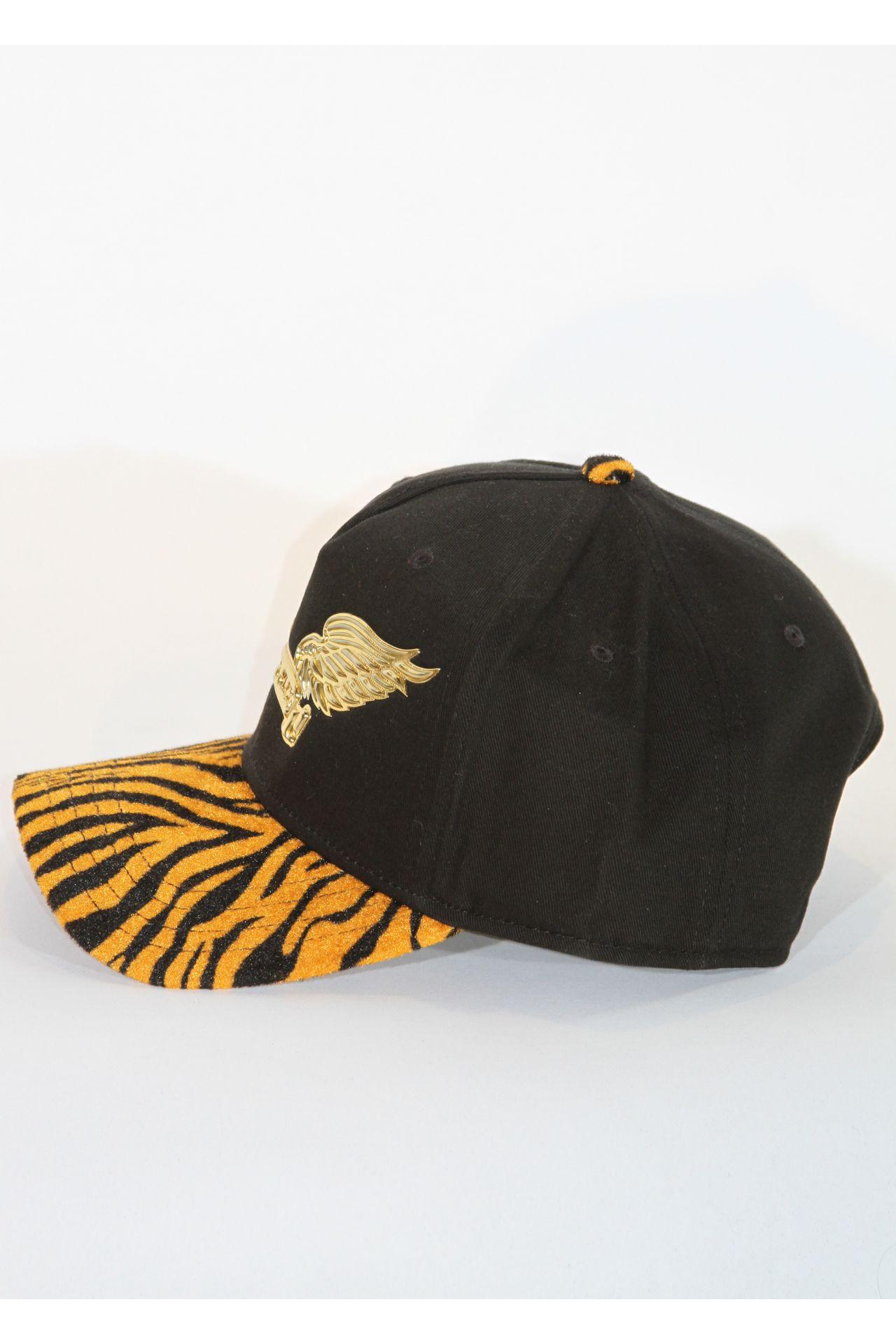 TIGER HAT IN BLACK