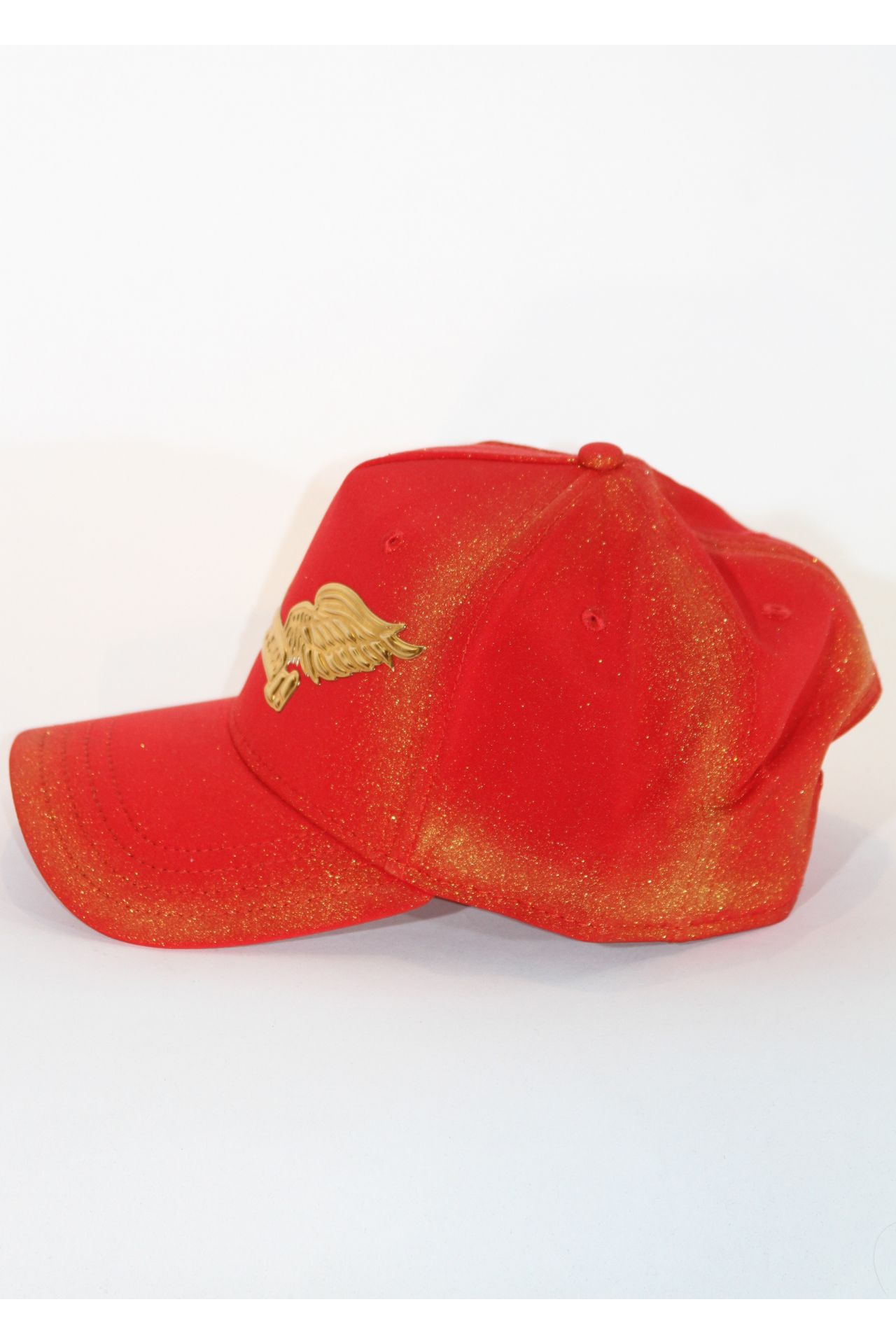 RED HAT WITH GOLD STARDUST