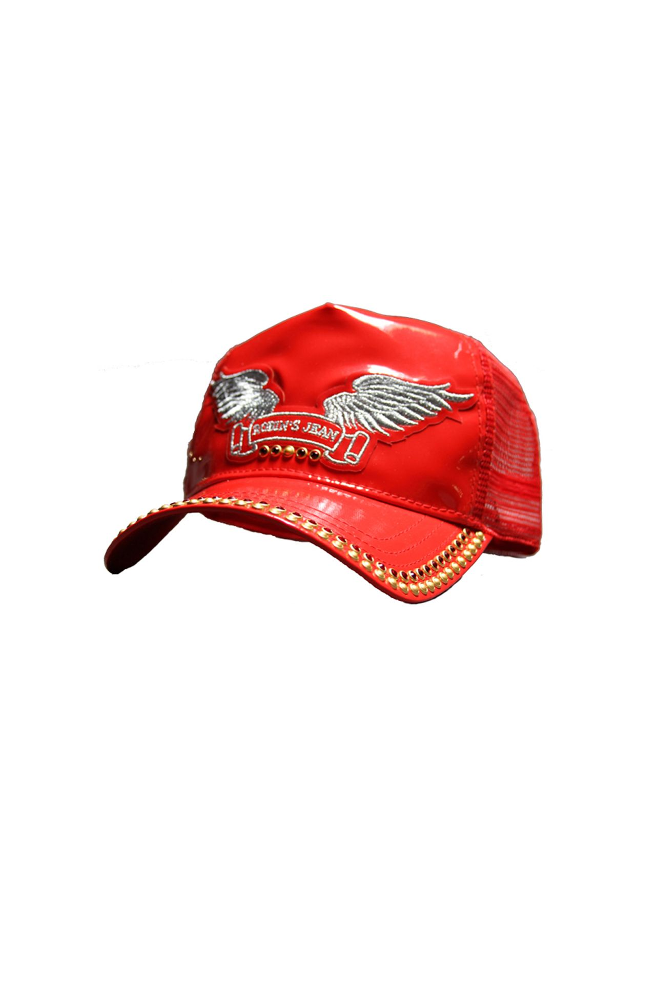 STUDDED CAP RED