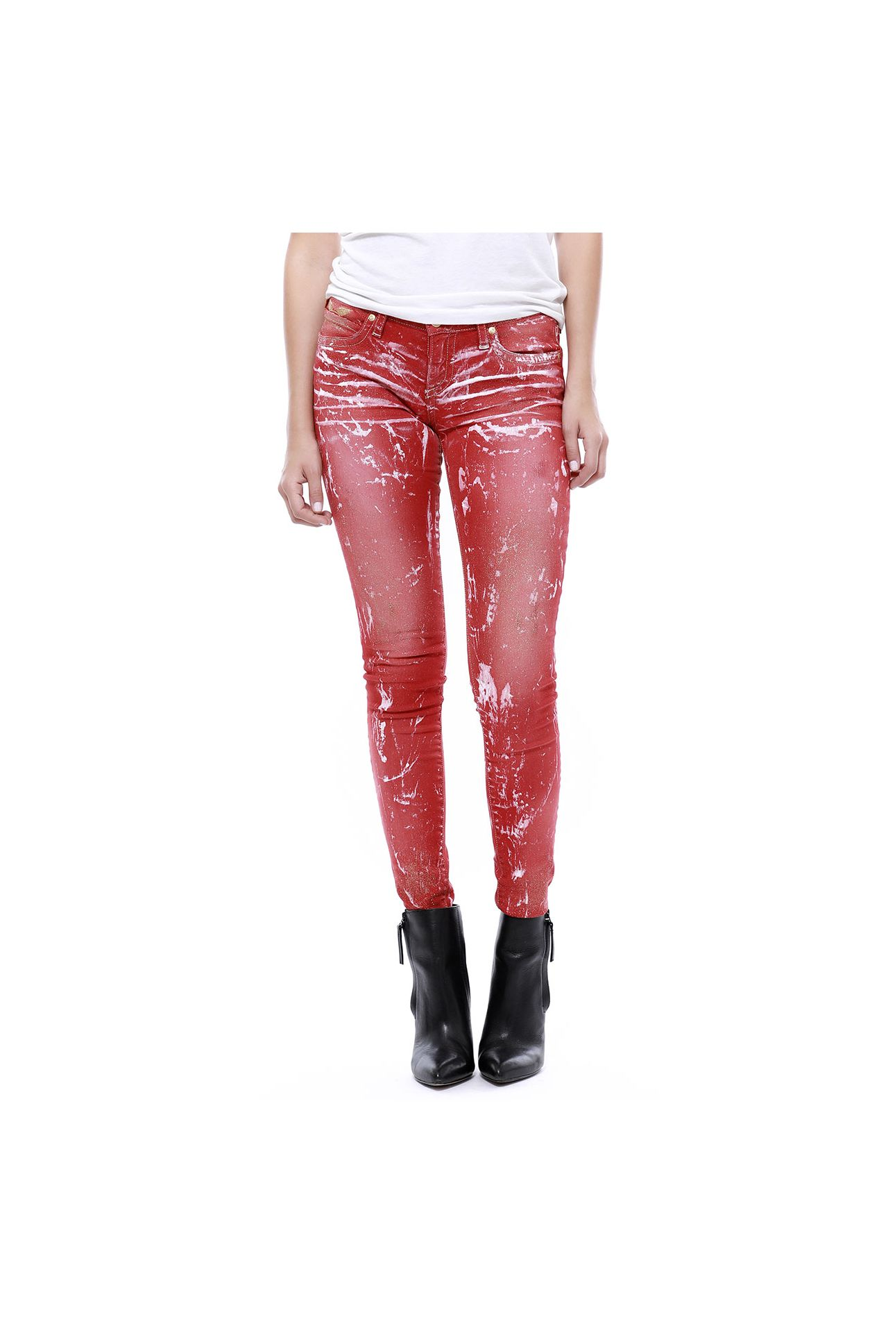 MARILYN STUDDED IN ICE RED WASH