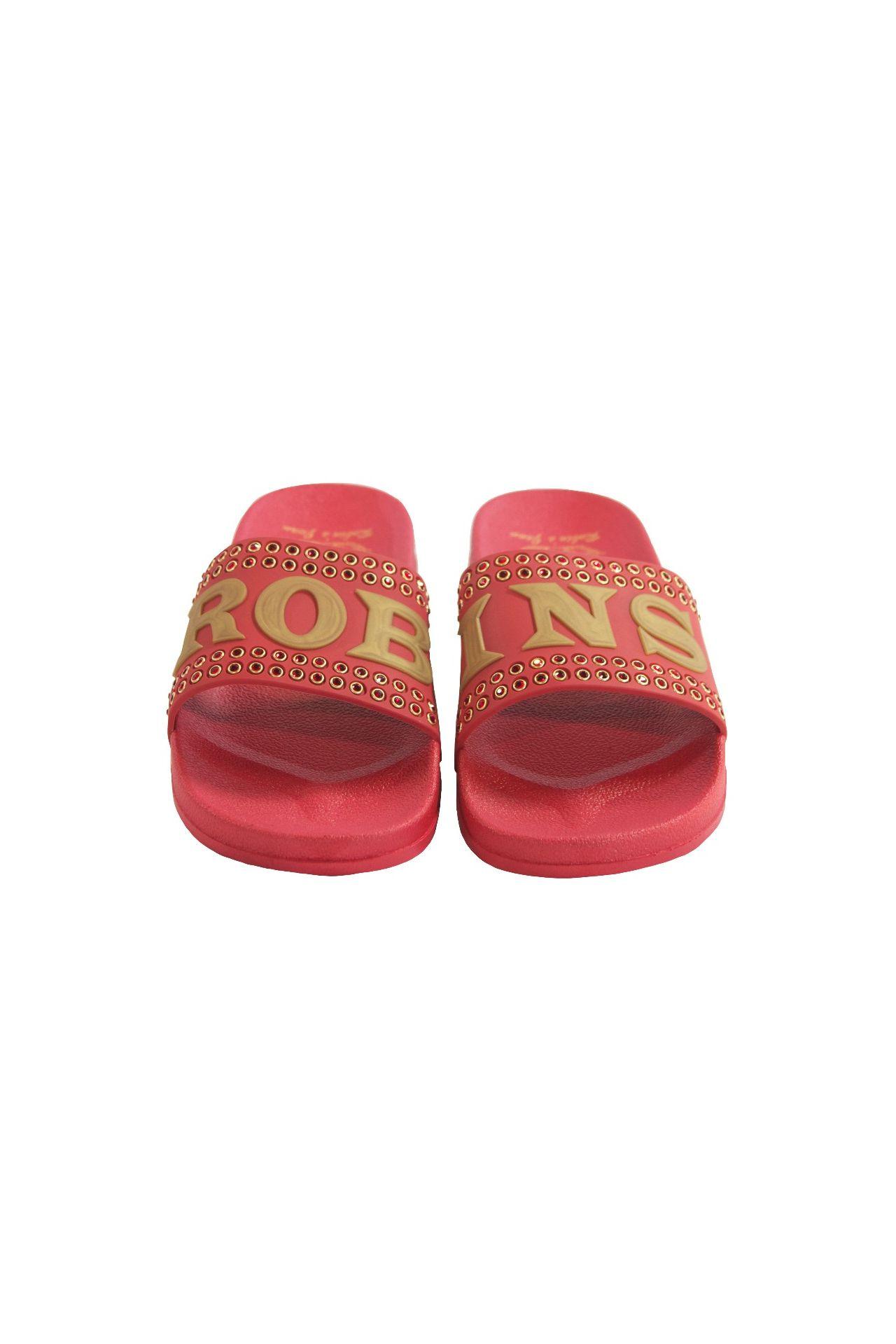 ROBIN SLIDES IN RED WITH RED CRYSTALS