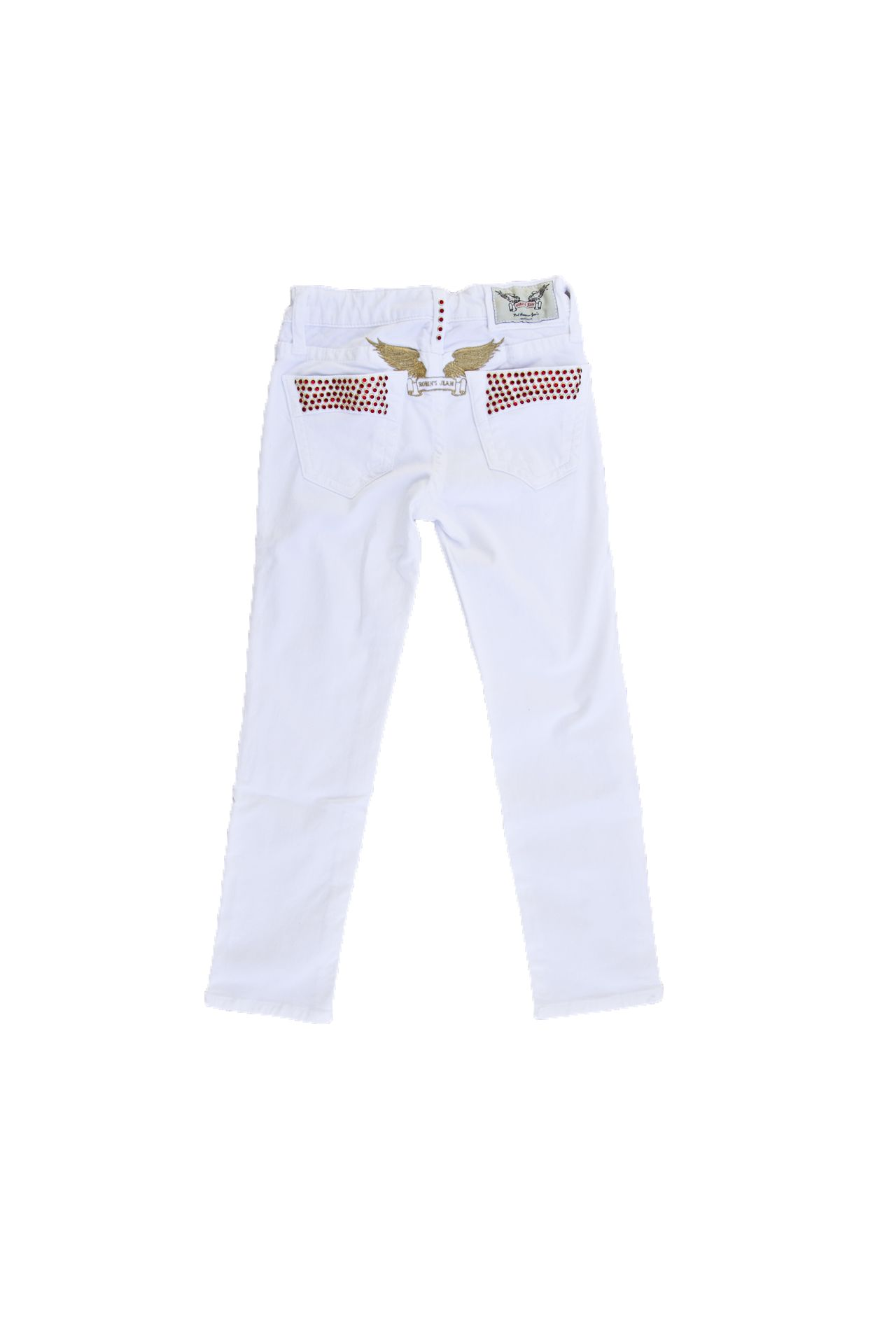 KID PANTS WHITE STUDDED