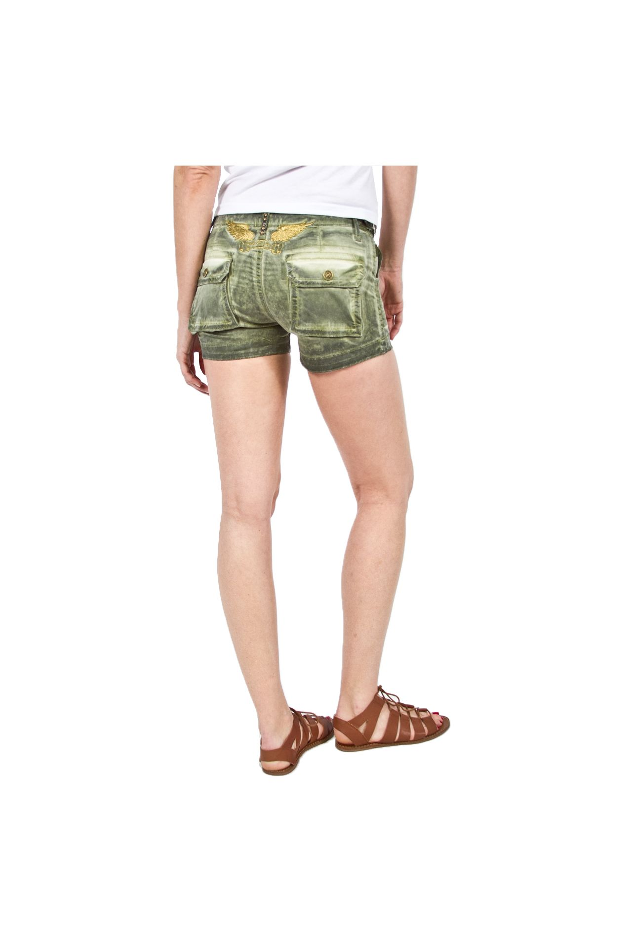 MILITARY SHORT OIL GREEN ARMY